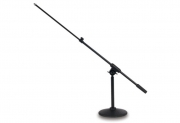 E-AMÁ talpas asztali mikrofonállvány, állítható gémmel