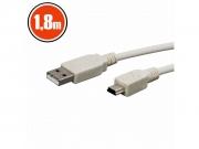 USB kábel 2.0 USB A- B mini USB 1,8m