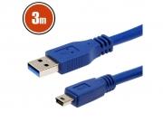 USB kábel 3.0 USB A- B mini USB 3 m