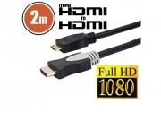 HDMI-mini kábel aranyozott csatlakozóval • 2 m