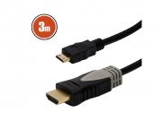HDMI-mini kábel aranyozott csatlakozóval • 3 m