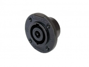 NL8MPRBAG 8 pólusú beépíthatő hangfalcsatlakozó, fekete előlappal, kerek házzal